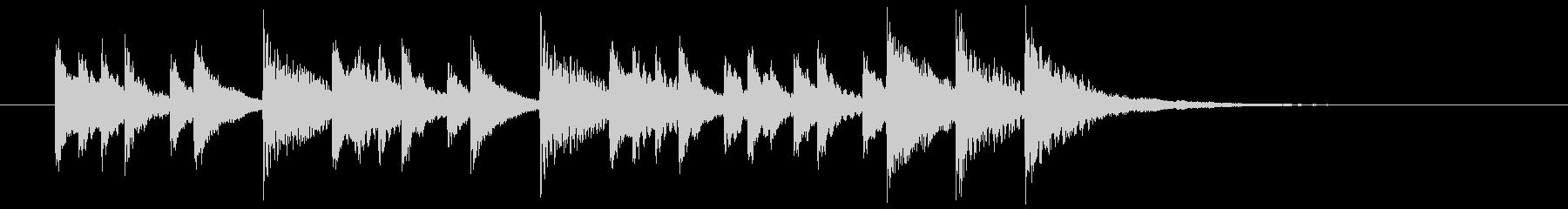 コミカルなシンセサイザーのポップスの未再生の波形