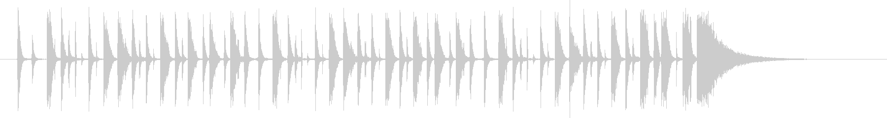 HHが効いた【生ドラム 】ループ音源の未再生の波形