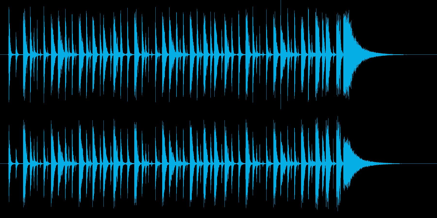 HHが効いた【生ドラム 】ループ音源の再生済みの波形