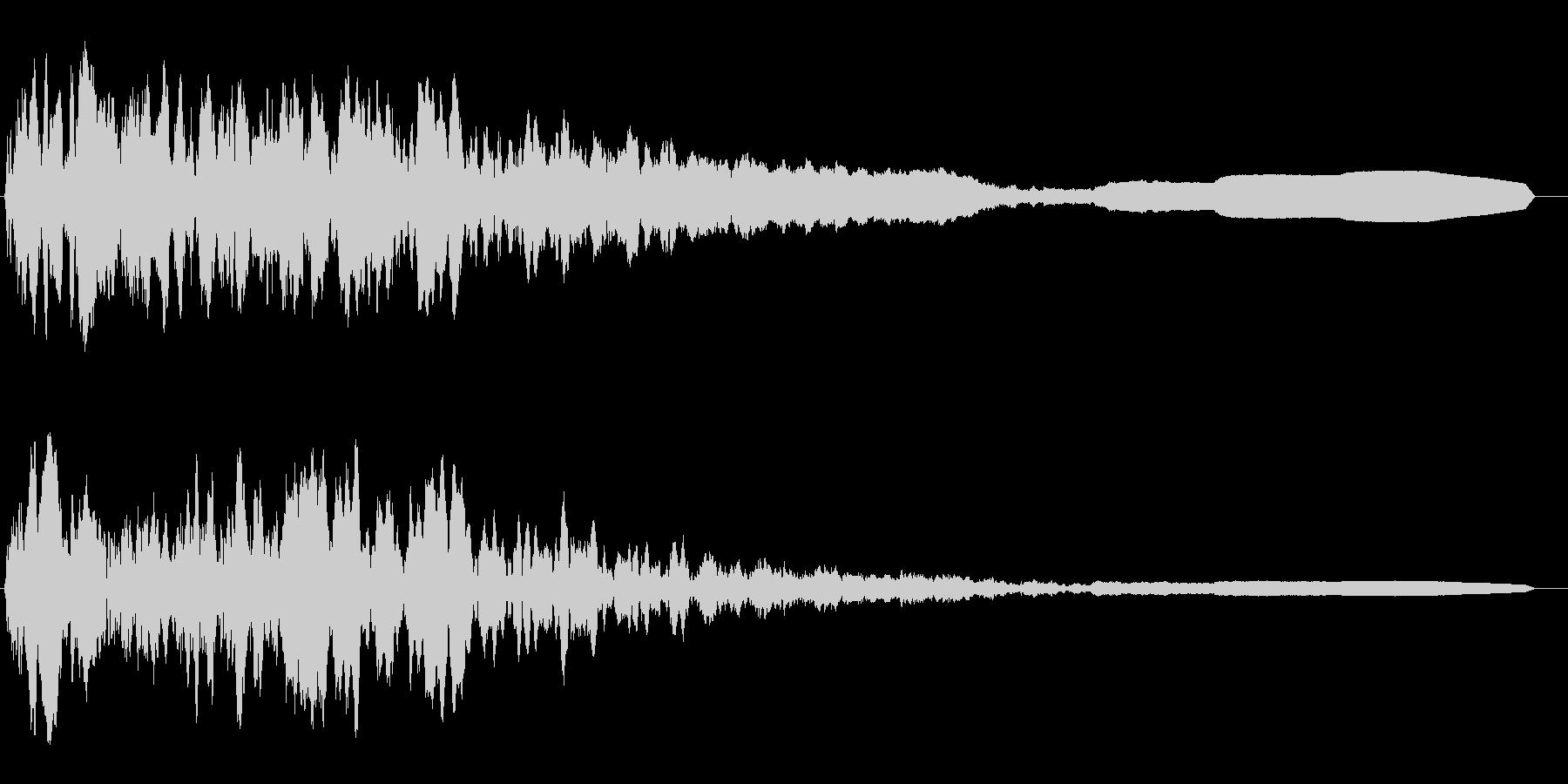 怪奇現象の時の効果音の未再生の波形