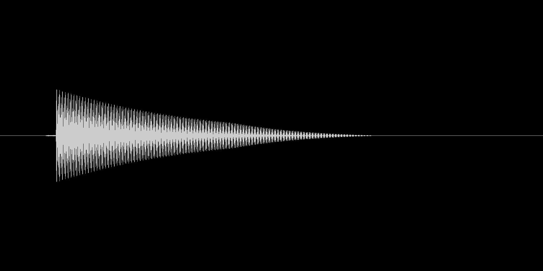 レトロ調な選択カーソル移動音。ピッ。の未再生の波形
