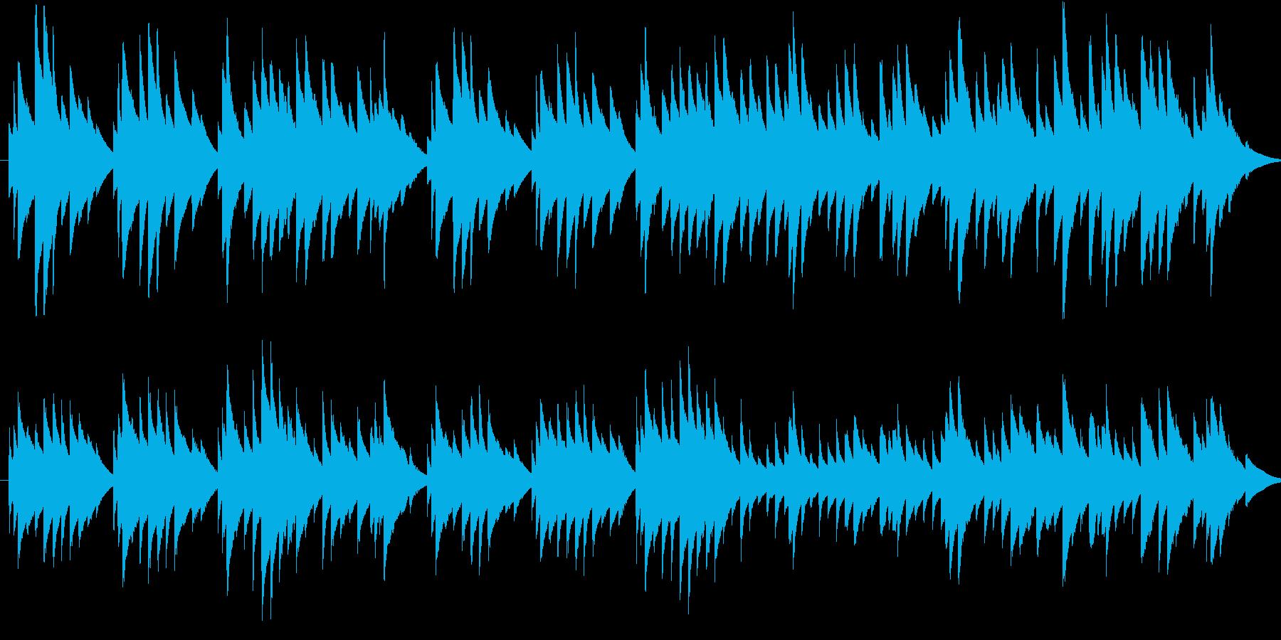 オルゴールの曲で、着信音またはオルゴー…の再生済みの波形