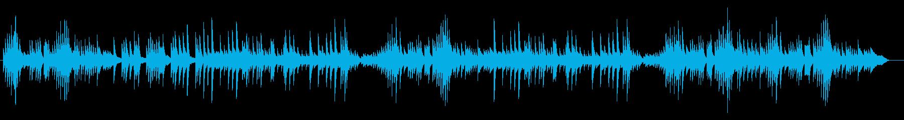 オルゴール調のオシャレでゆったりした曲の再生済みの波形