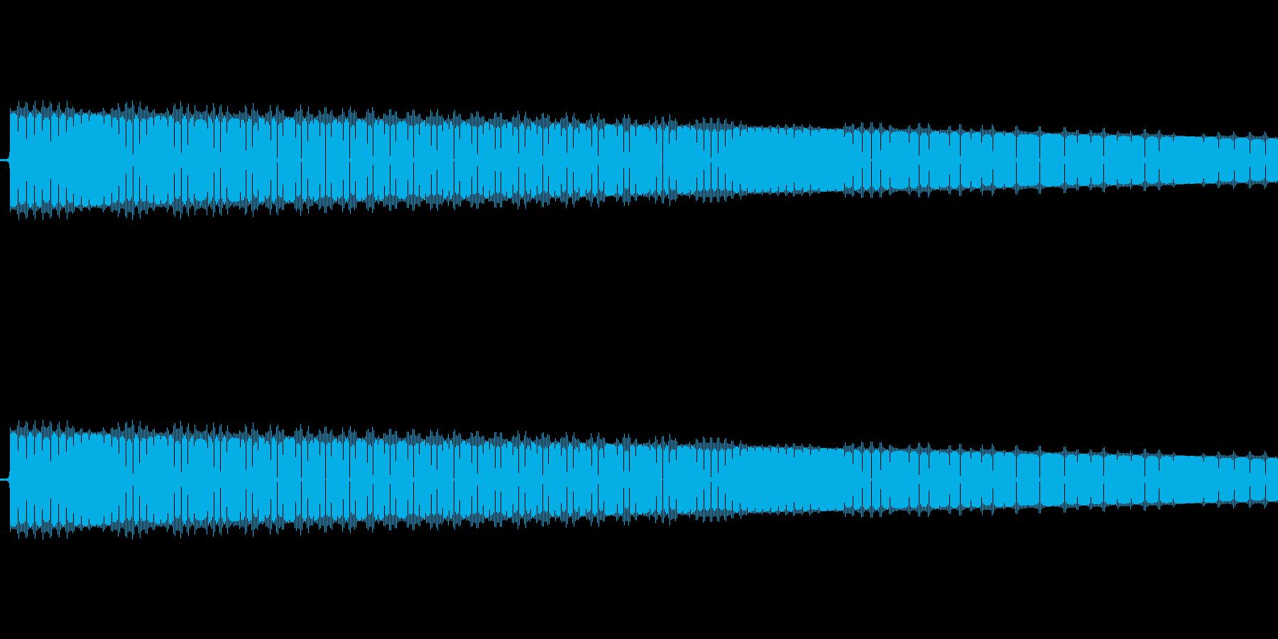 レトロゲーム風ショット音4の再生済みの波形
