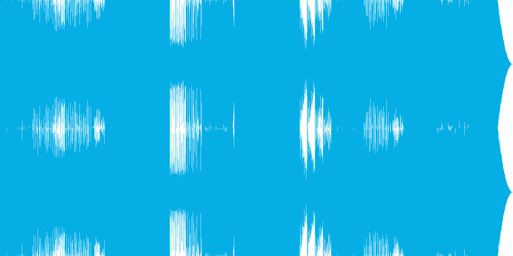 楽しいEDMの再生済みの波形