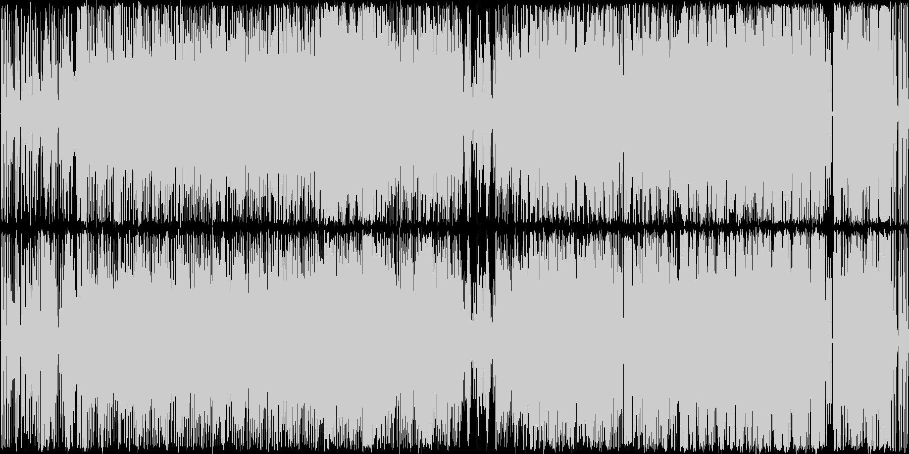 funk風HIPHOPトラックBGMの未再生の波形