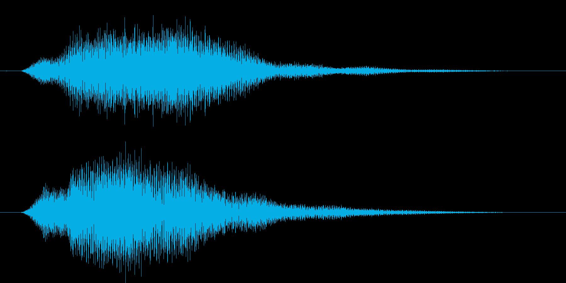 決定音(主張しすぎない音)の再生済みの波形