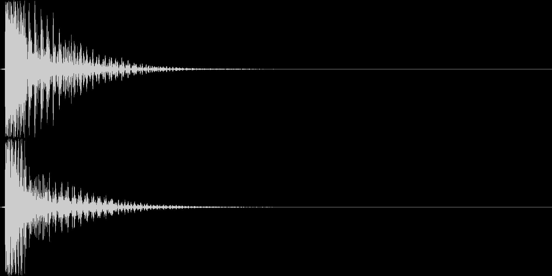 ガーン(不安感のある音)の未再生の波形