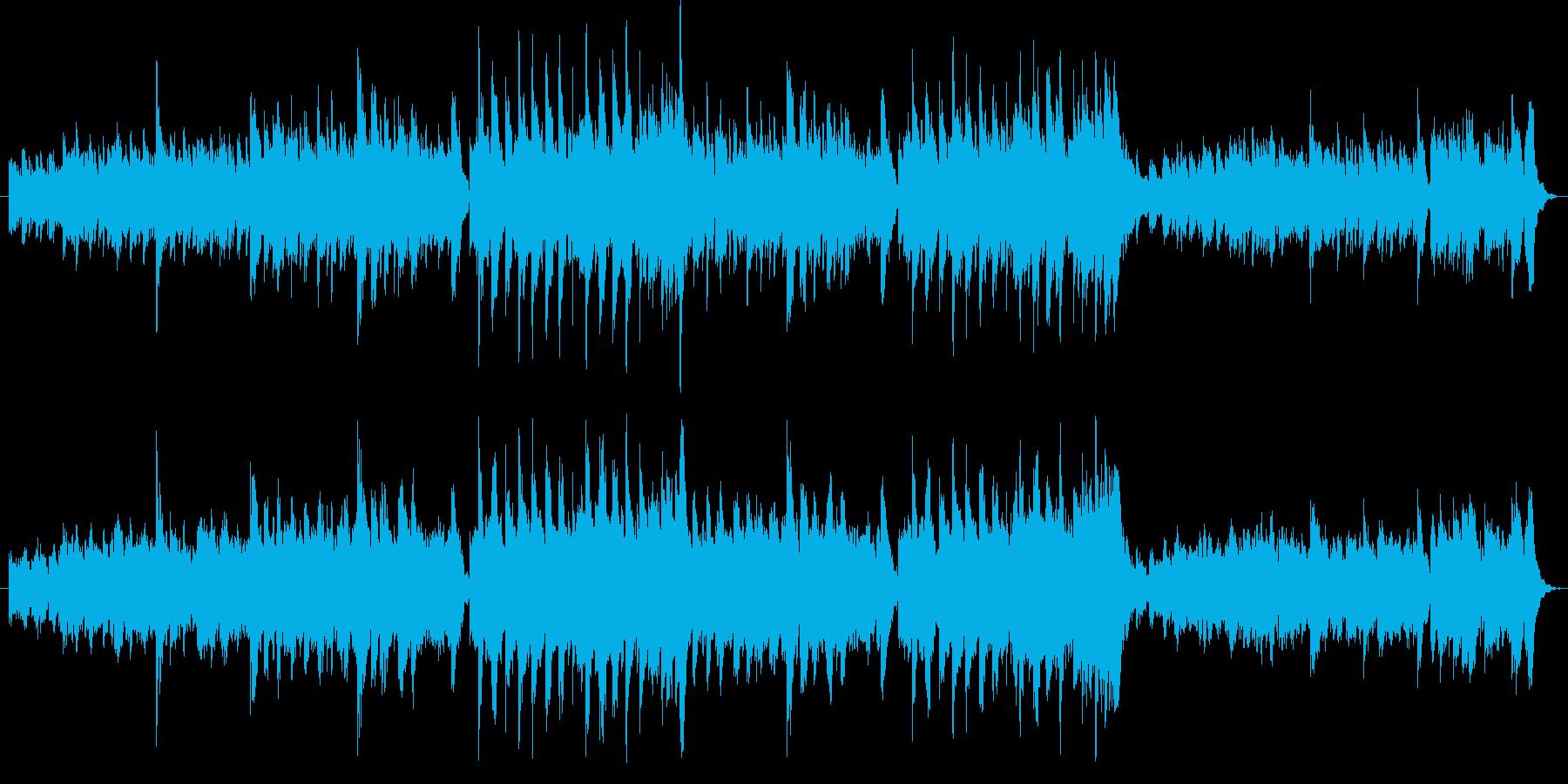 クラシックギターとリコーダーによる曲ですの再生済みの波形