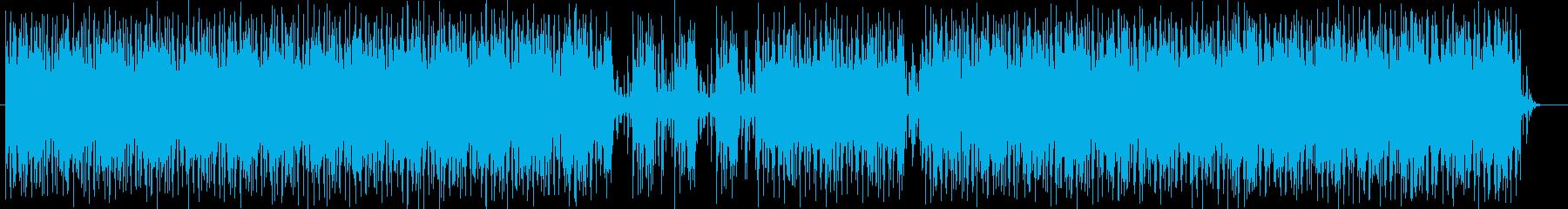 疾走感とシリアスなシンセサイザーテクノの再生済みの波形