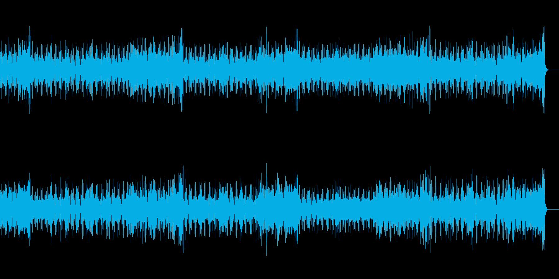 抑制の効いたスリムなフュージョン風の再生済みの波形