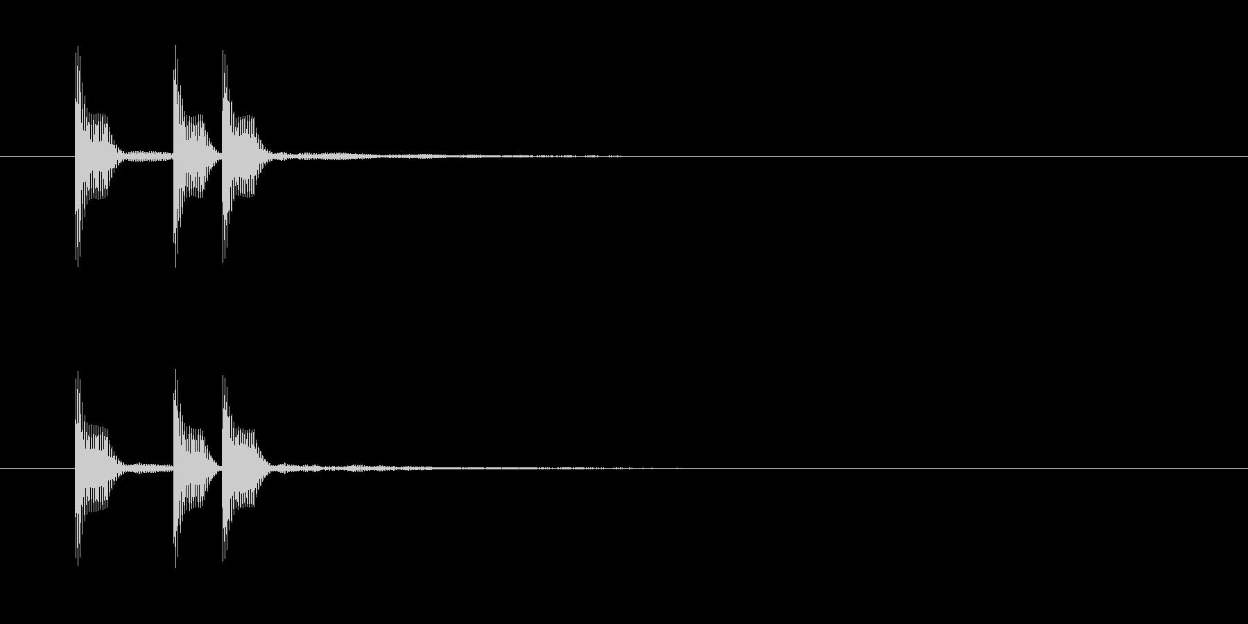テッテレの未再生の波形
