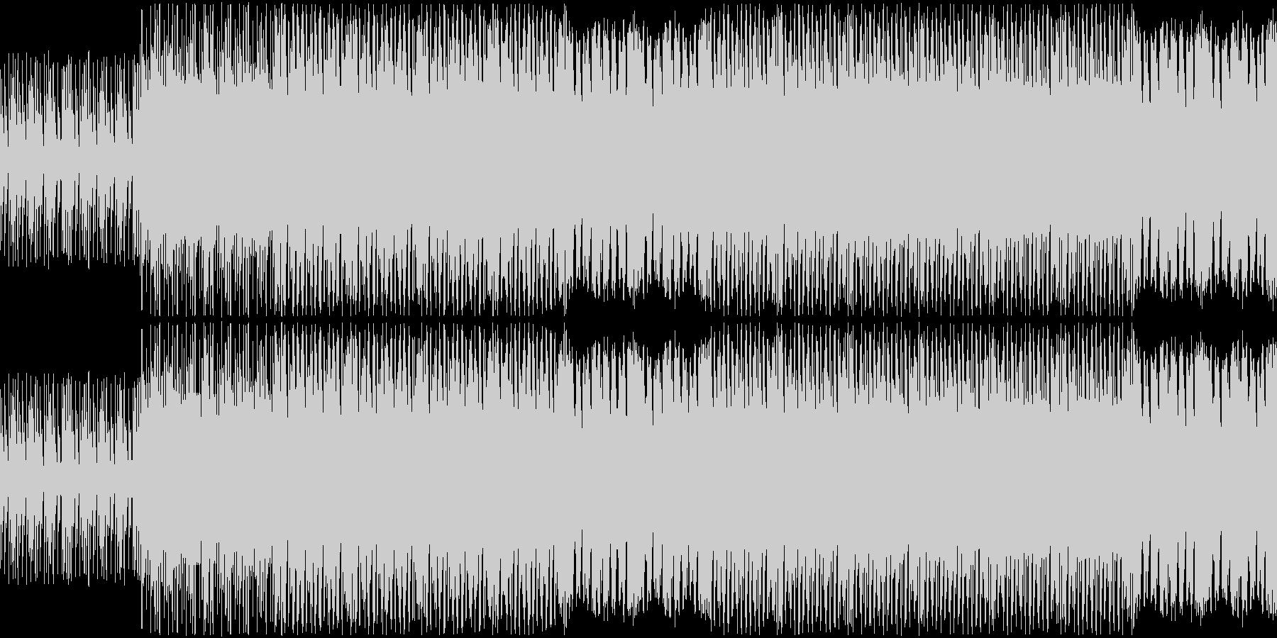ラスボスアタック風BGMの未再生の波形