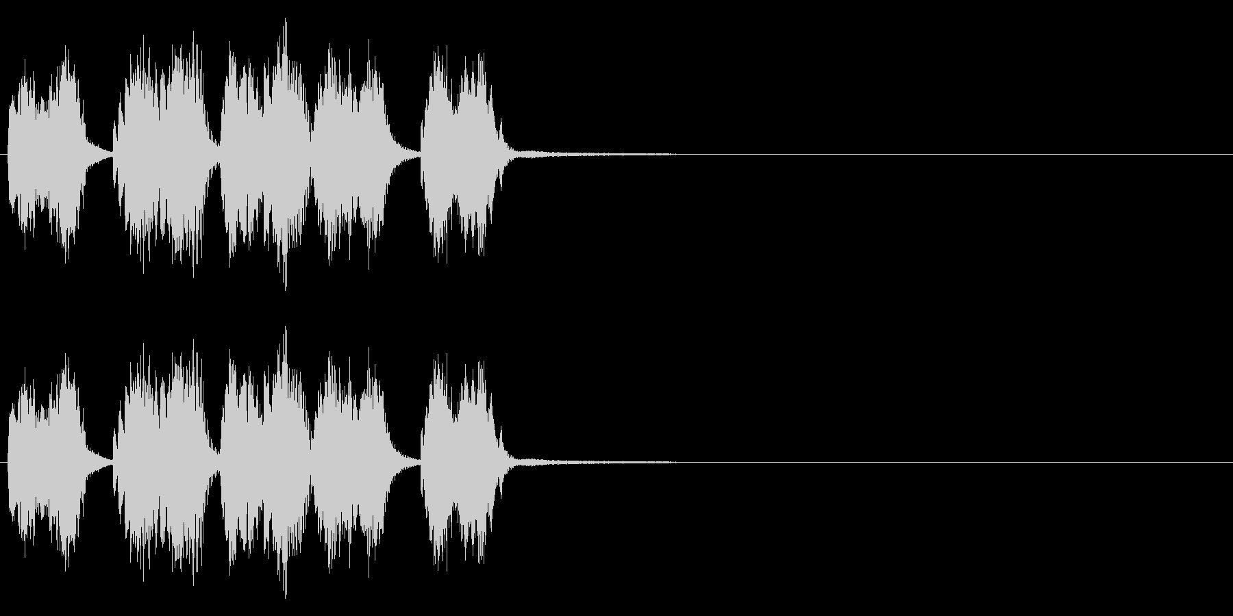 ピアノシングル、事件の予兆の未再生の波形