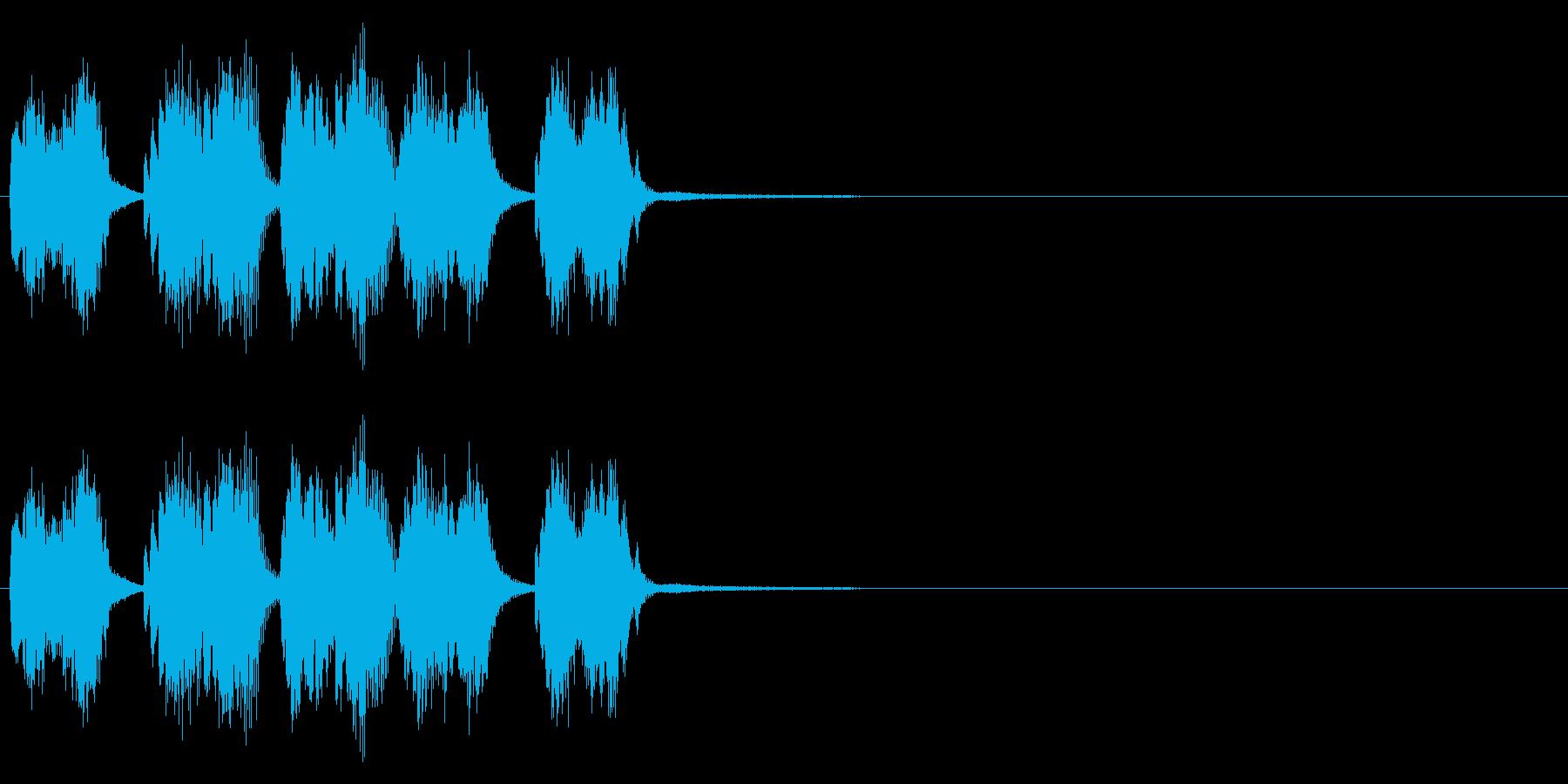ピアノシングル、事件の予兆の再生済みの波形