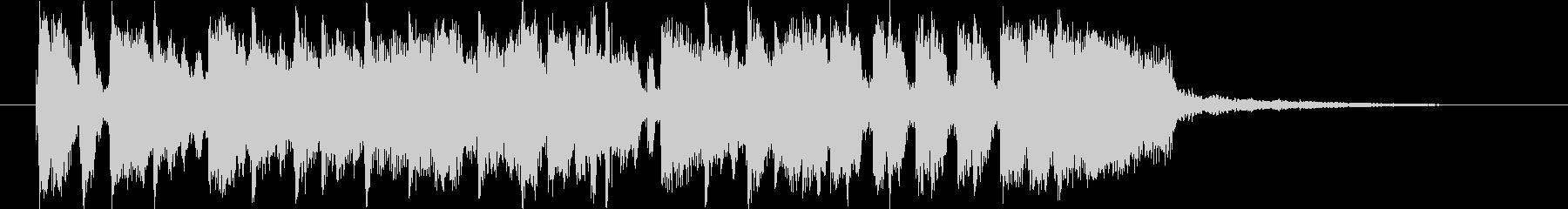 ファンクなジングルの未再生の波形