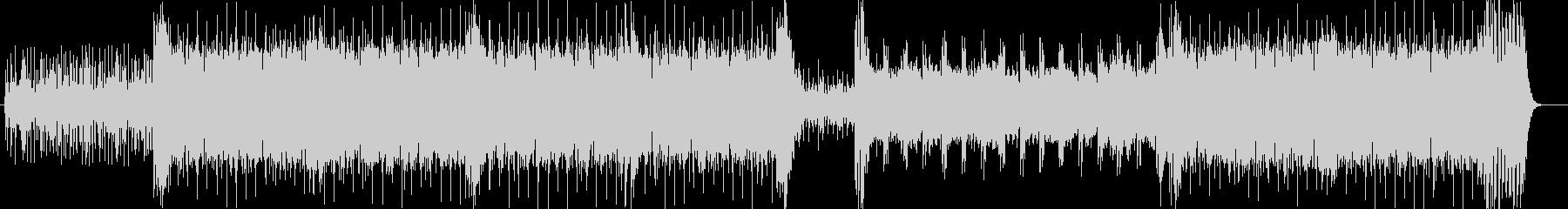 ドキドキと勢いのシンセサイザーなどの曲の未再生の波形