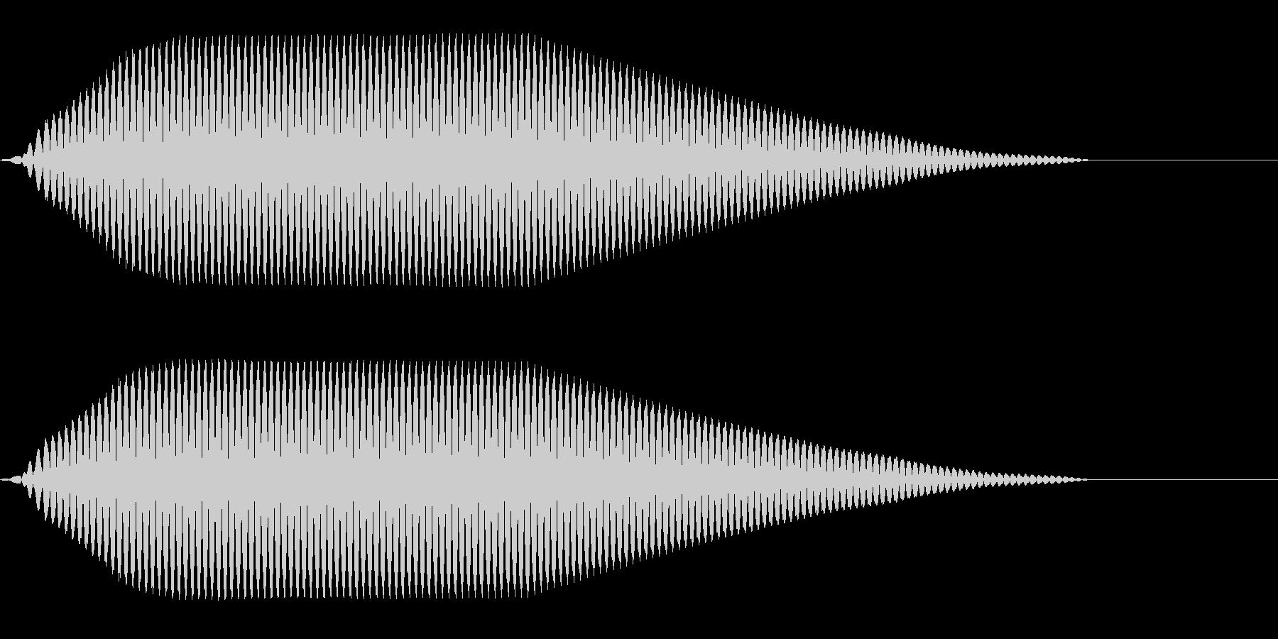ブーン(表示/電子的/テレビ番組)の未再生の波形