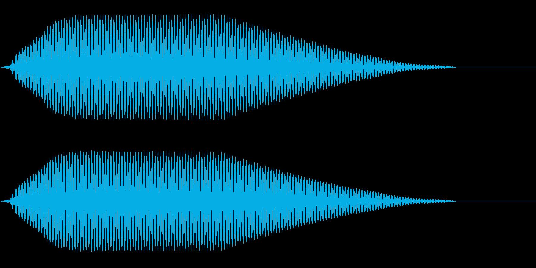 ブーン(表示/電子的/テレビ番組)の再生済みの波形