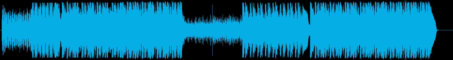 テックエレクトロニカ系ダンス曲CM向けの再生済みの波形