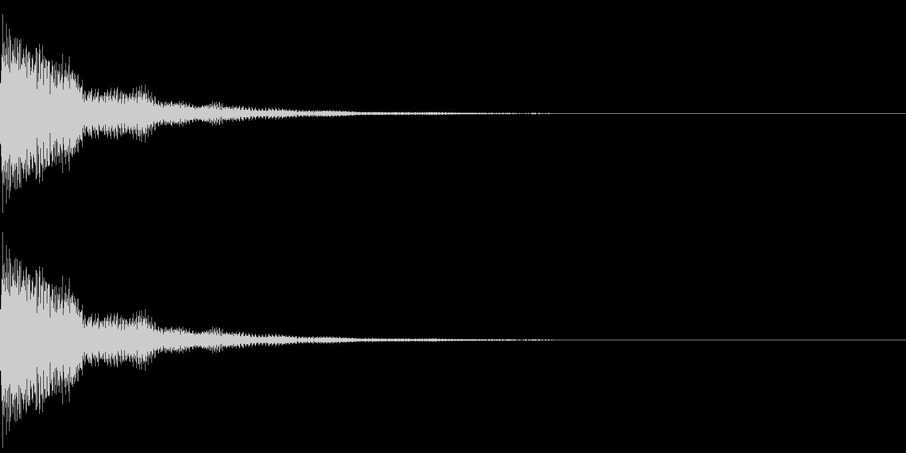 パーン(決定音)の未再生の波形