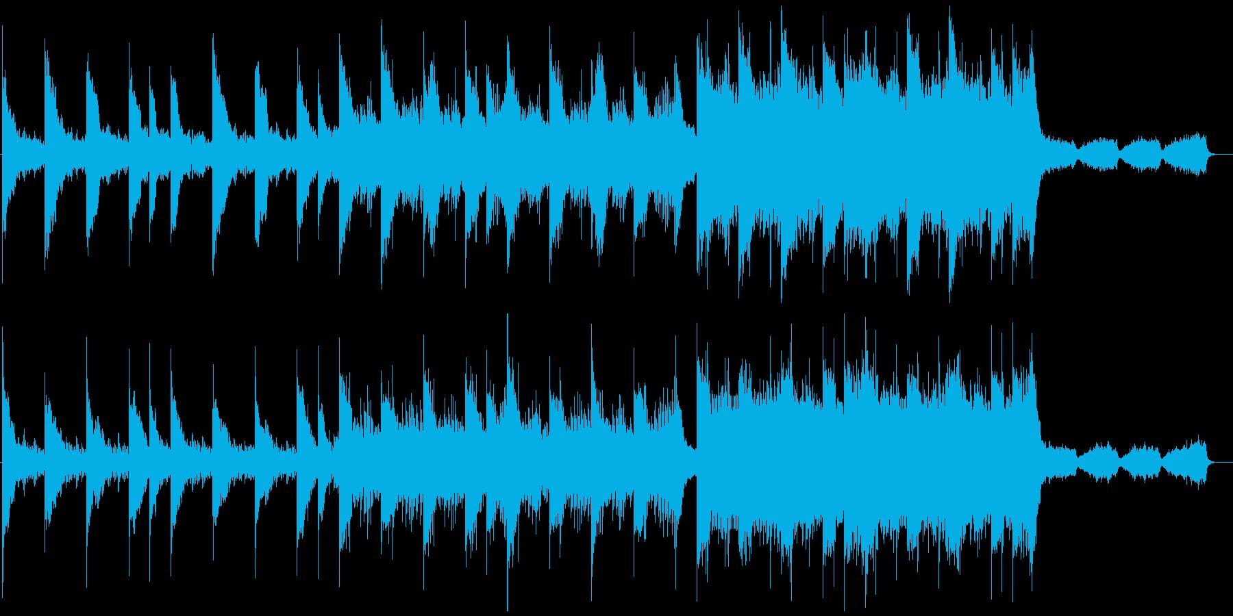 ピアノとストリングスが奏でる迫力のある曲の再生済みの波形