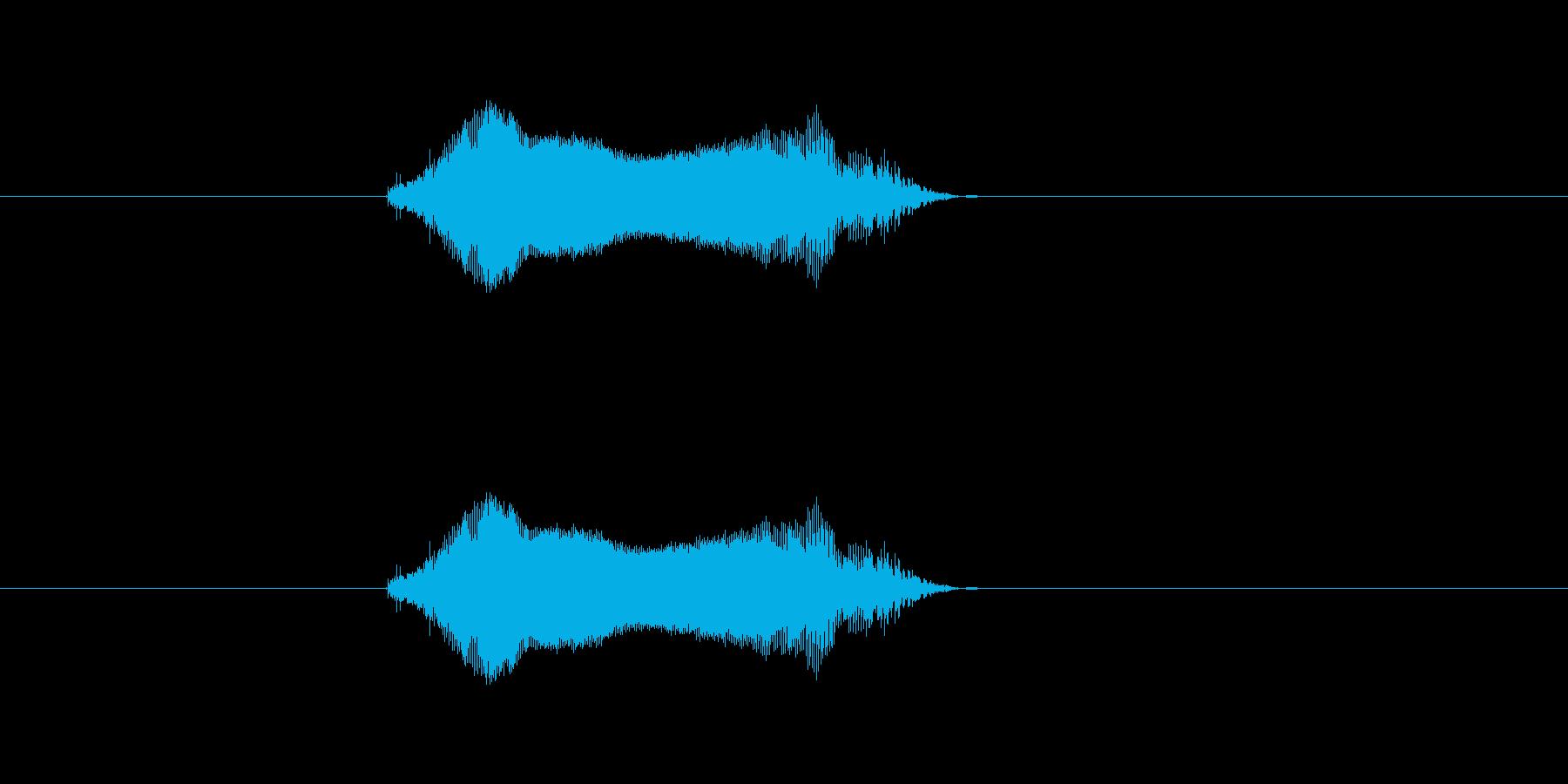 ツーの再生済みの波形