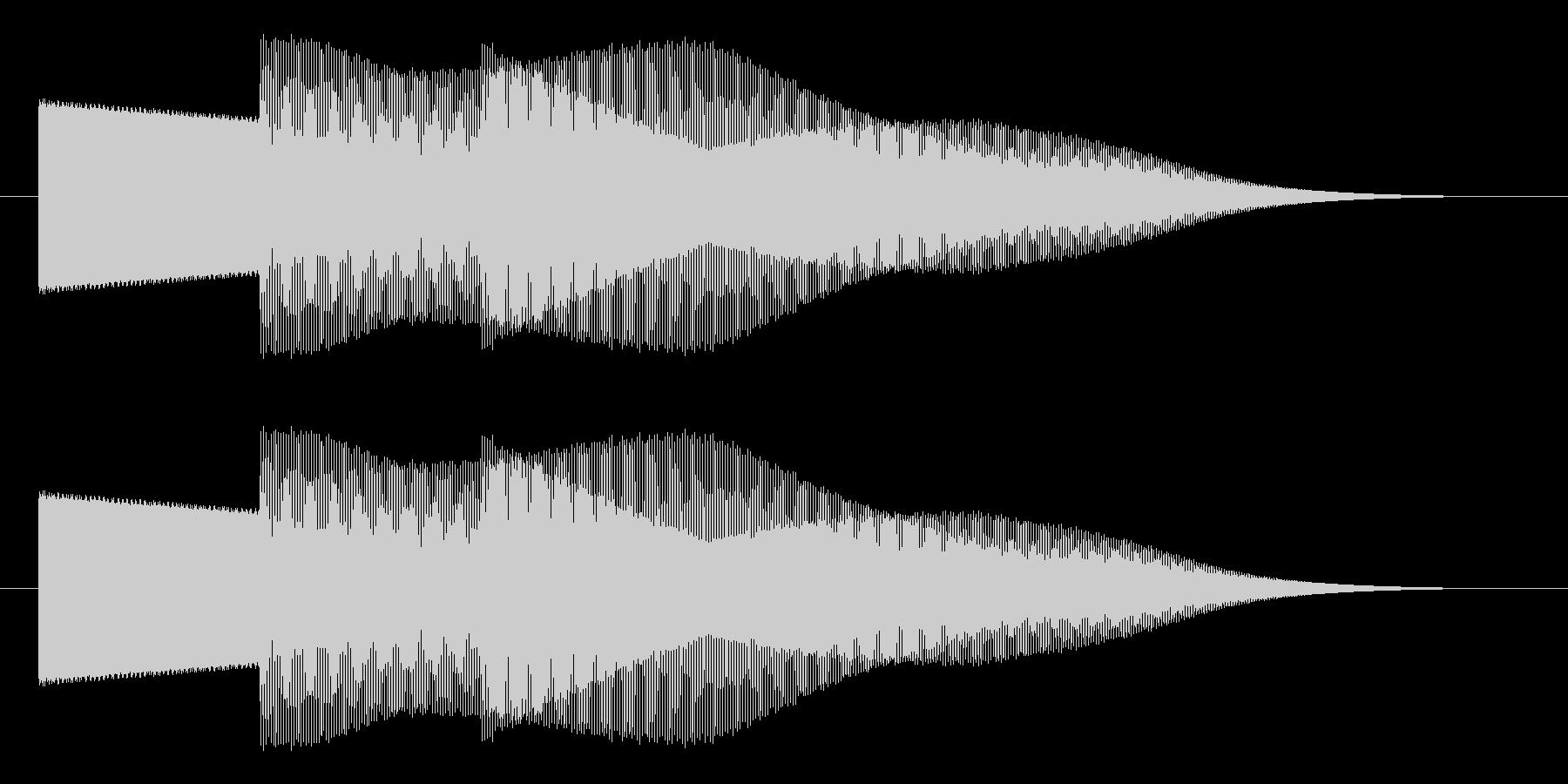 セレクト 決定 選択 スタート ピポパの未再生の波形