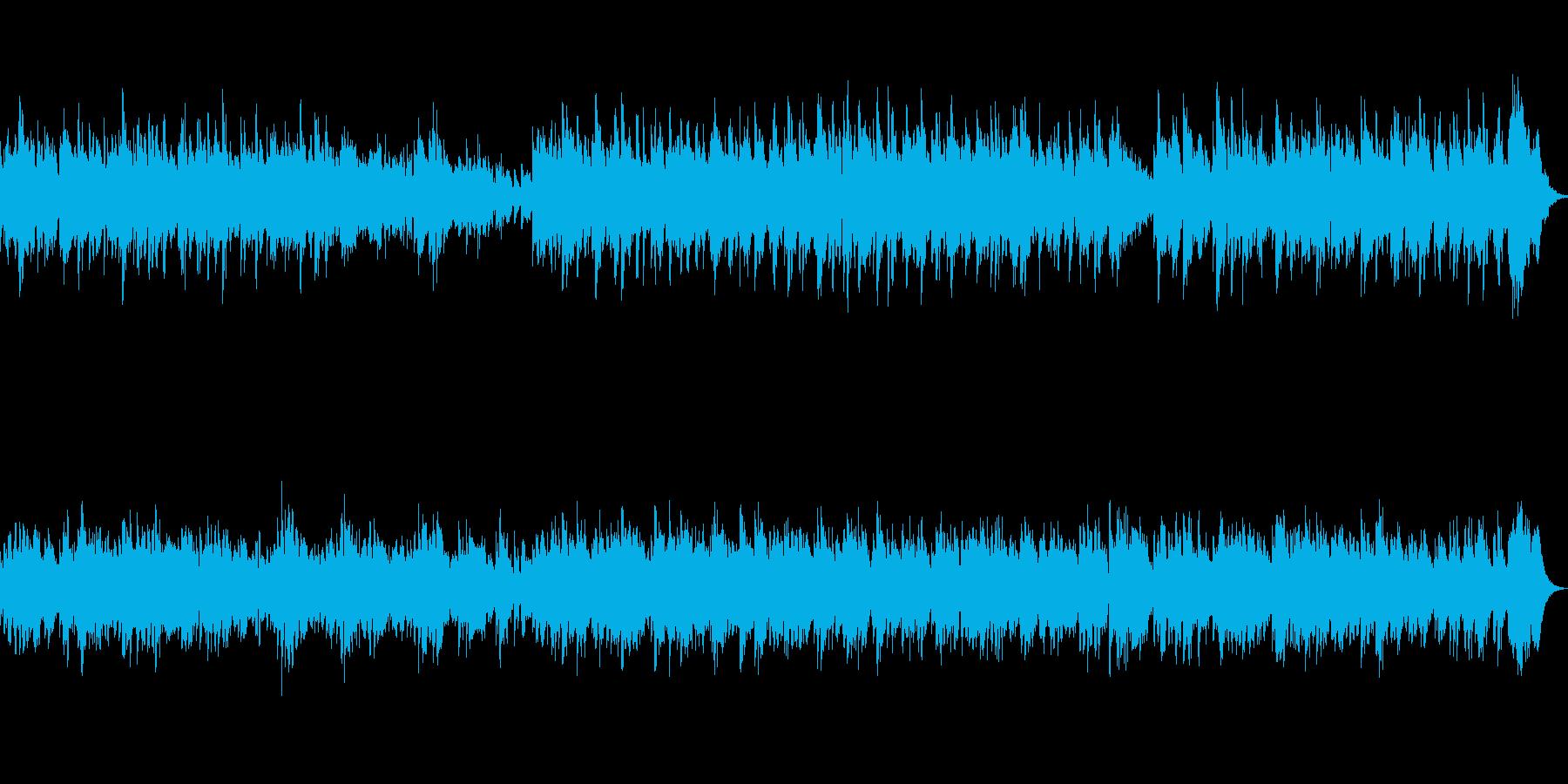 クリスマスに合う癒し系ハープのバラードの再生済みの波形