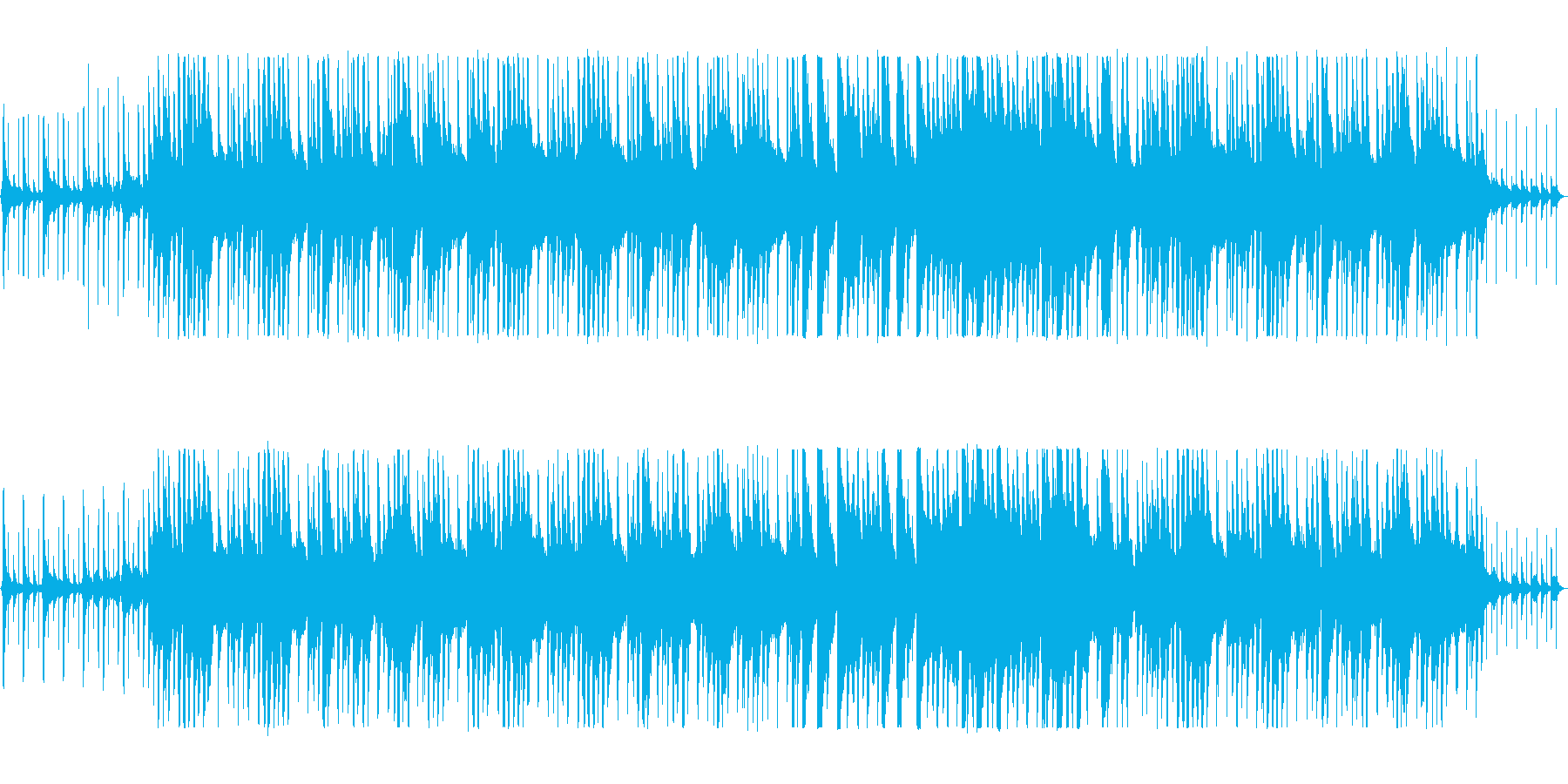 リズミカルでほのぼのとしたポップスの再生済みの波形