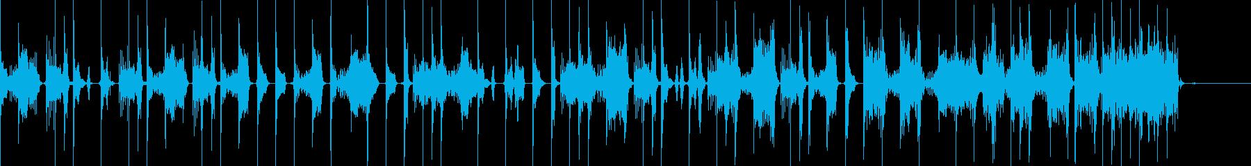ビートボックスとファミコン音で構築した曲の再生済みの波形