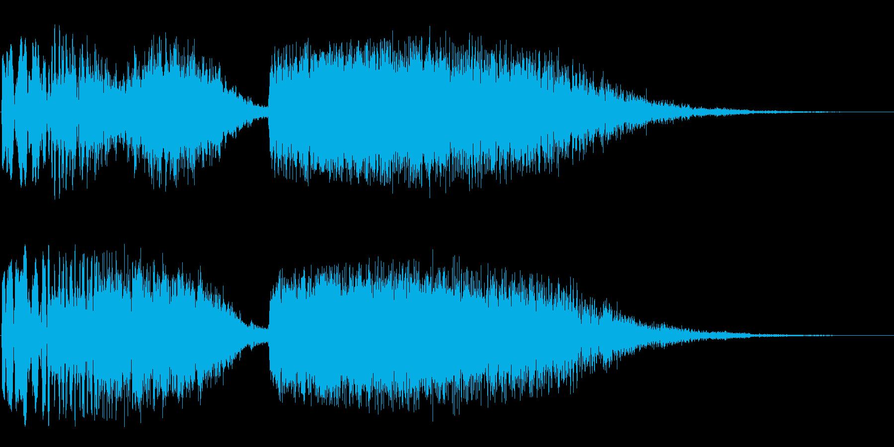 ジャララン(変身するときに使えそうな音)の再生済みの波形