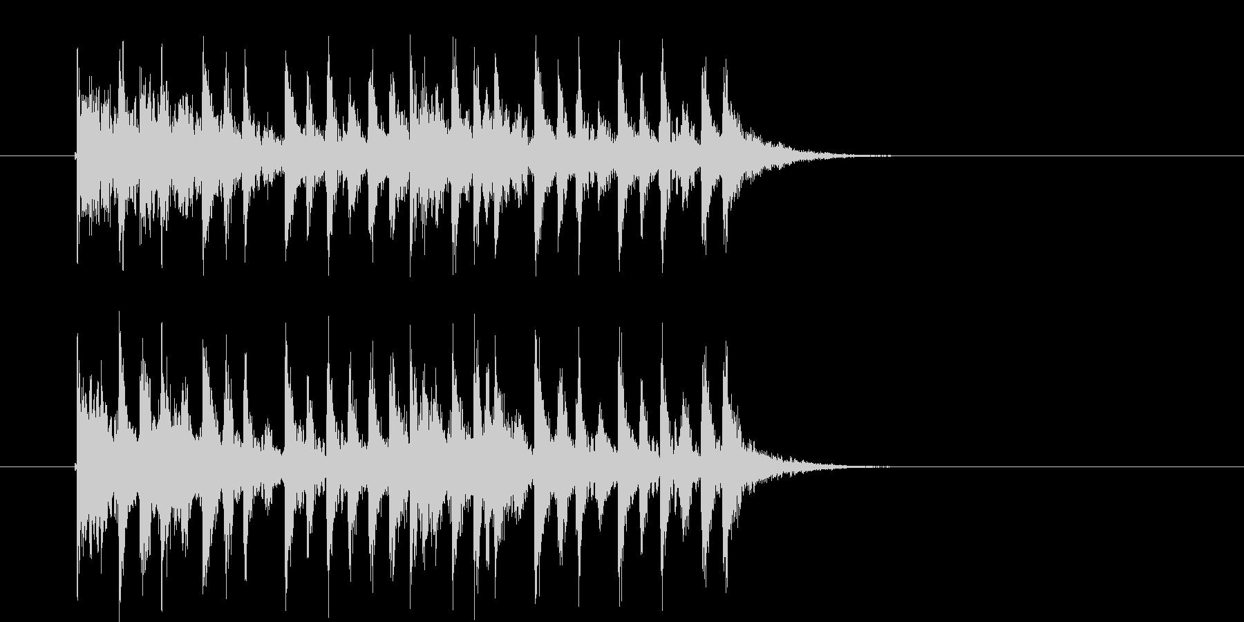 疾走感のあるミステリアスなテクノ音楽の未再生の波形