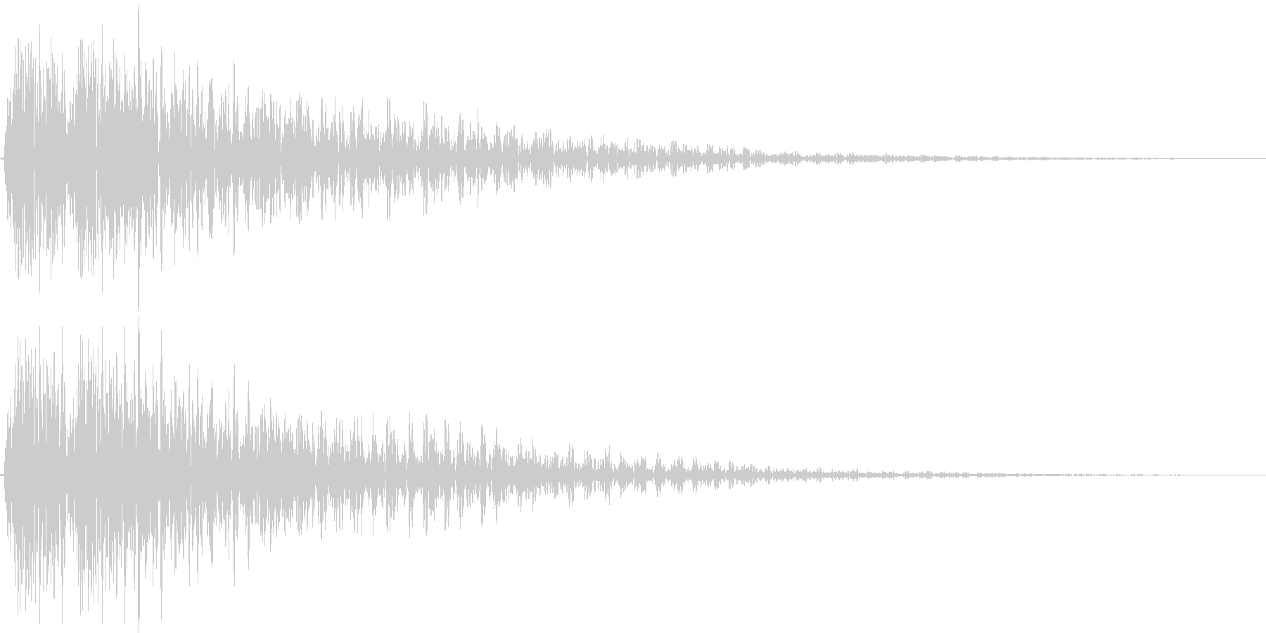 デデーン(強い絶望、レベルダウン、ミス)の未再生の波形