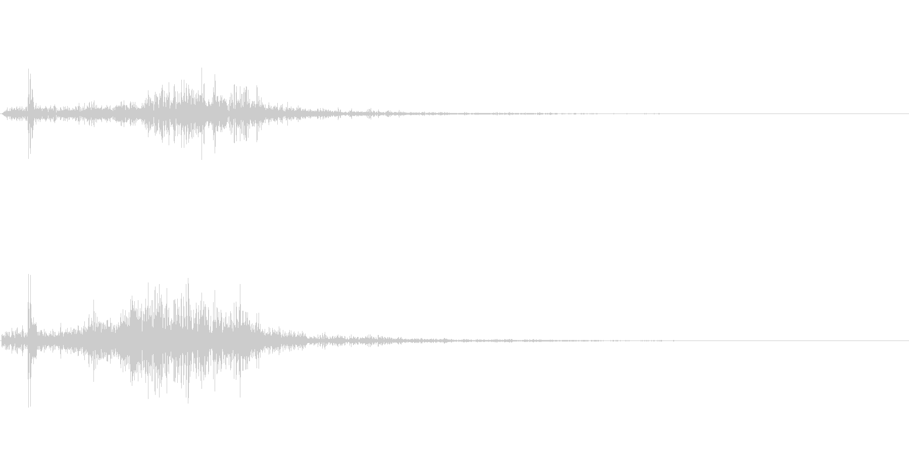 クワッ(スクロール音)の未再生の波形