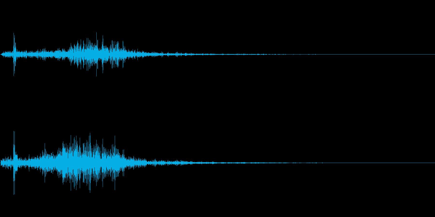 クワッ(スクロール音)の再生済みの波形