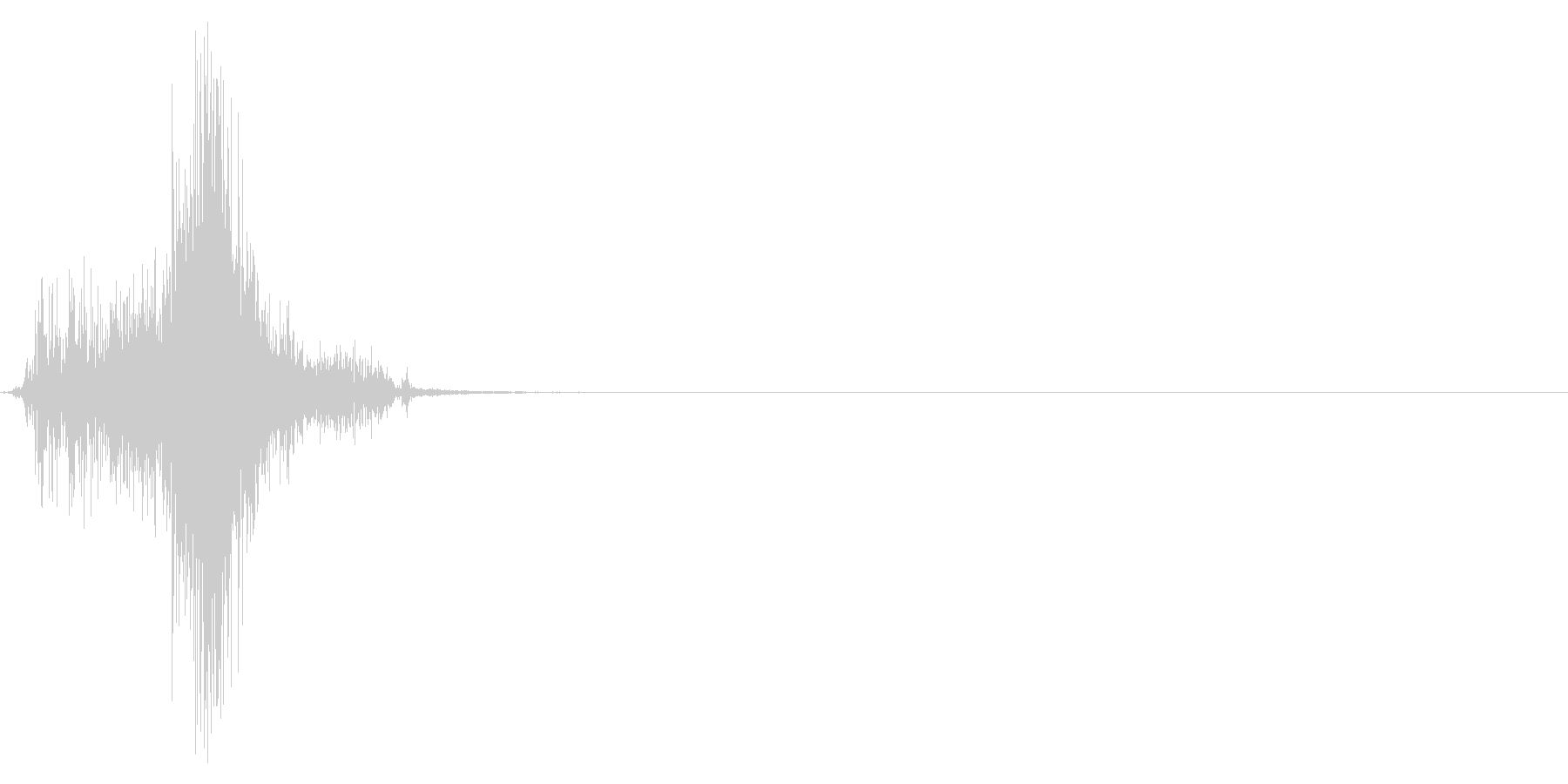 ジッパー、ファスナーを開ける音1-4の未再生の波形