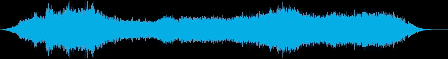 神秘的な雰囲気のアンビエント(背景音)5の再生済みの波形