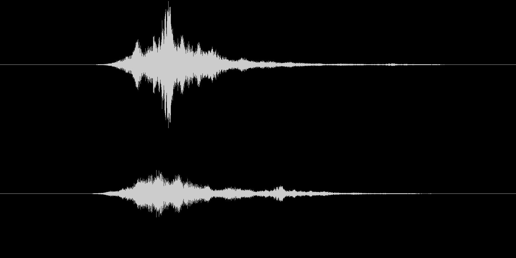 ヒューン(メール等の送受信音)、電子音の未再生の波形