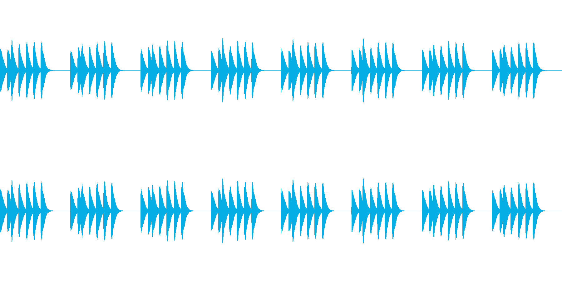 マリンバの着信音です。の再生済みの波形