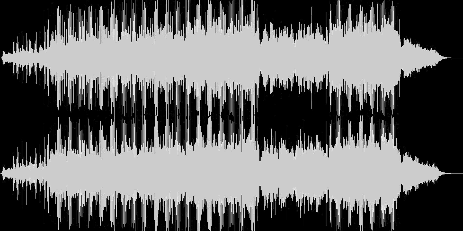 前進感のあるエレクトロニカの未再生の波形