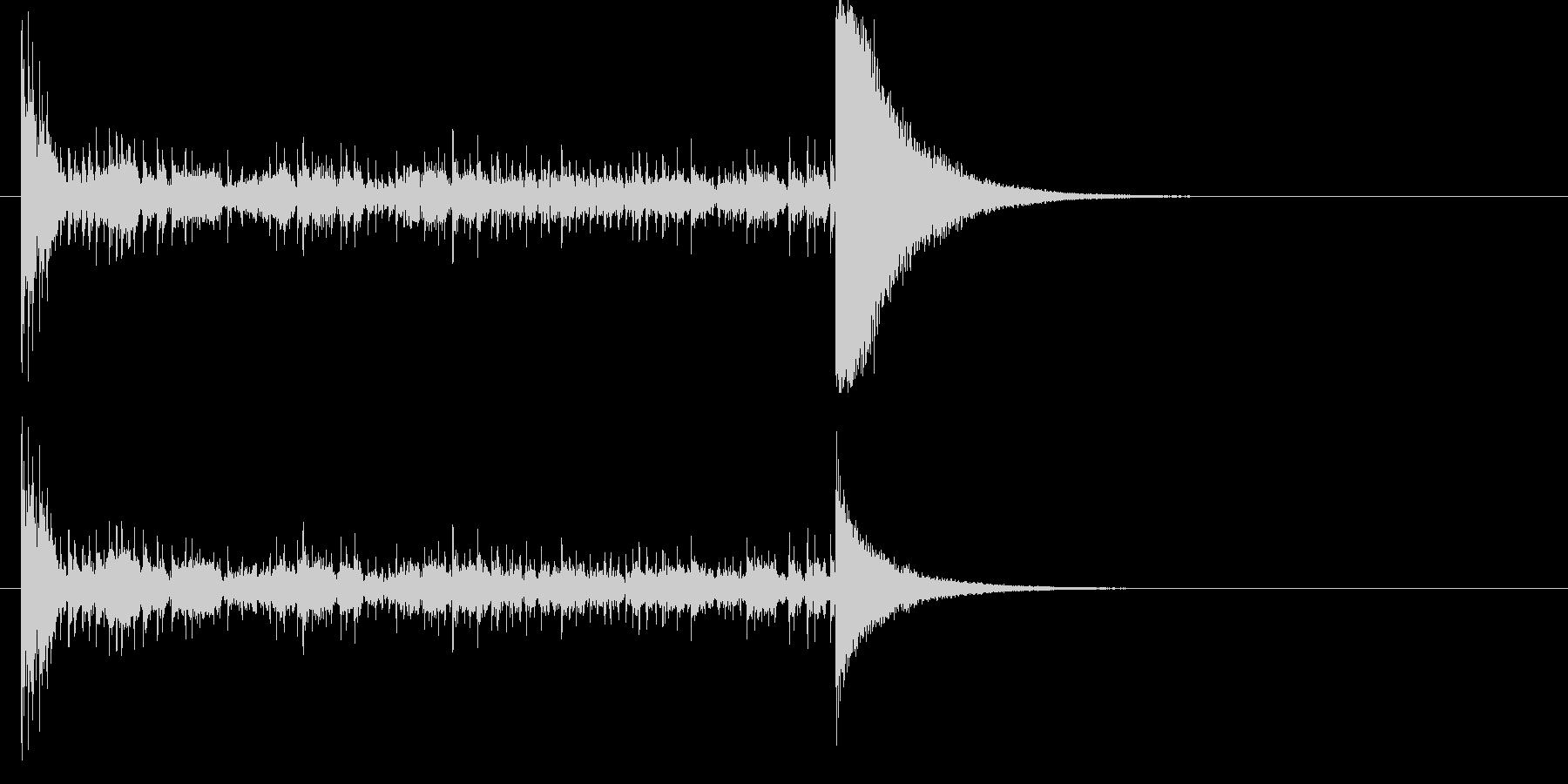 結果発表ドコドコ・ロール10秒シンバル有の未再生の波形