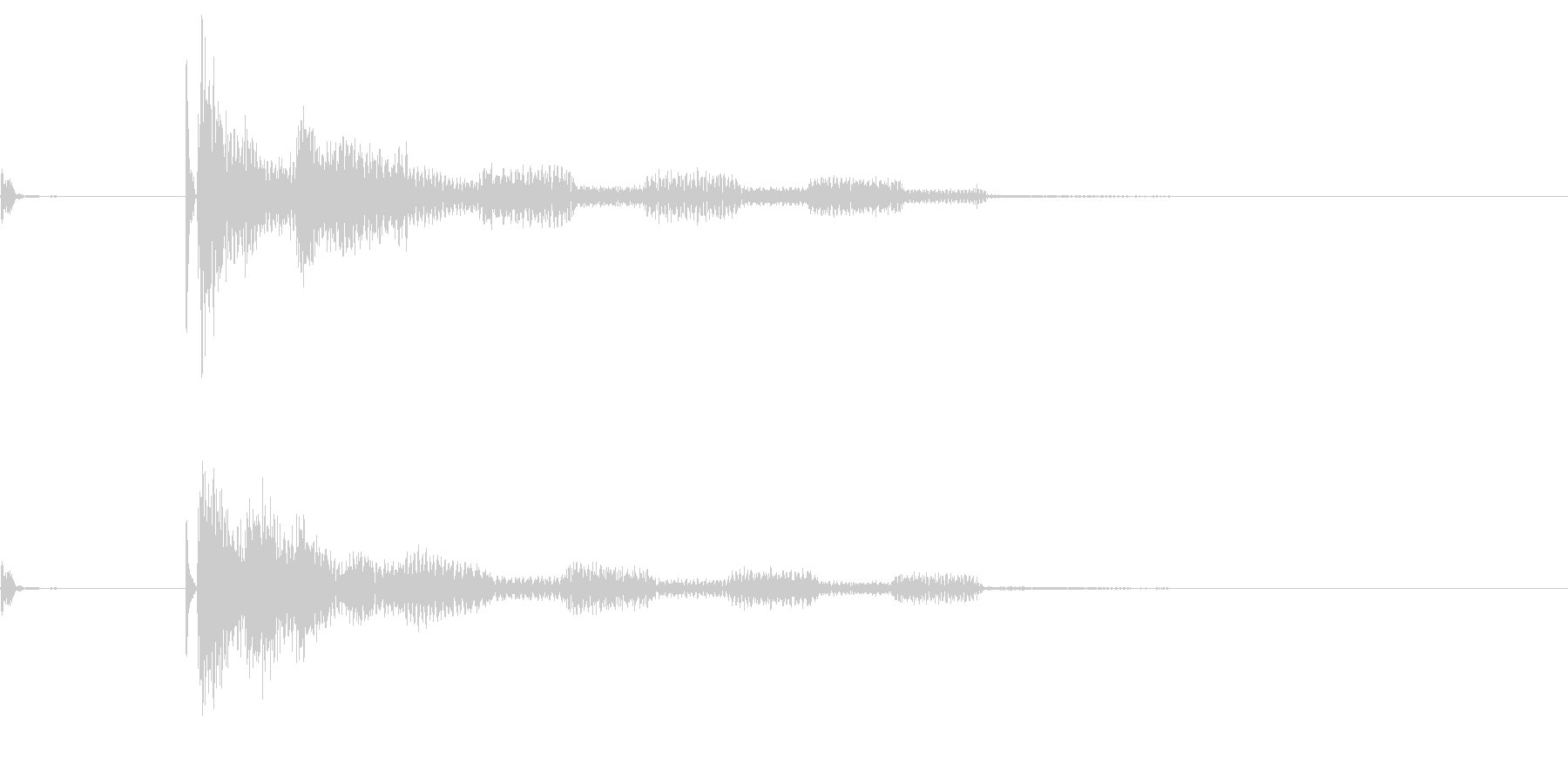 将棋の駒5 オセロ 効果音付き の未再生の波形
