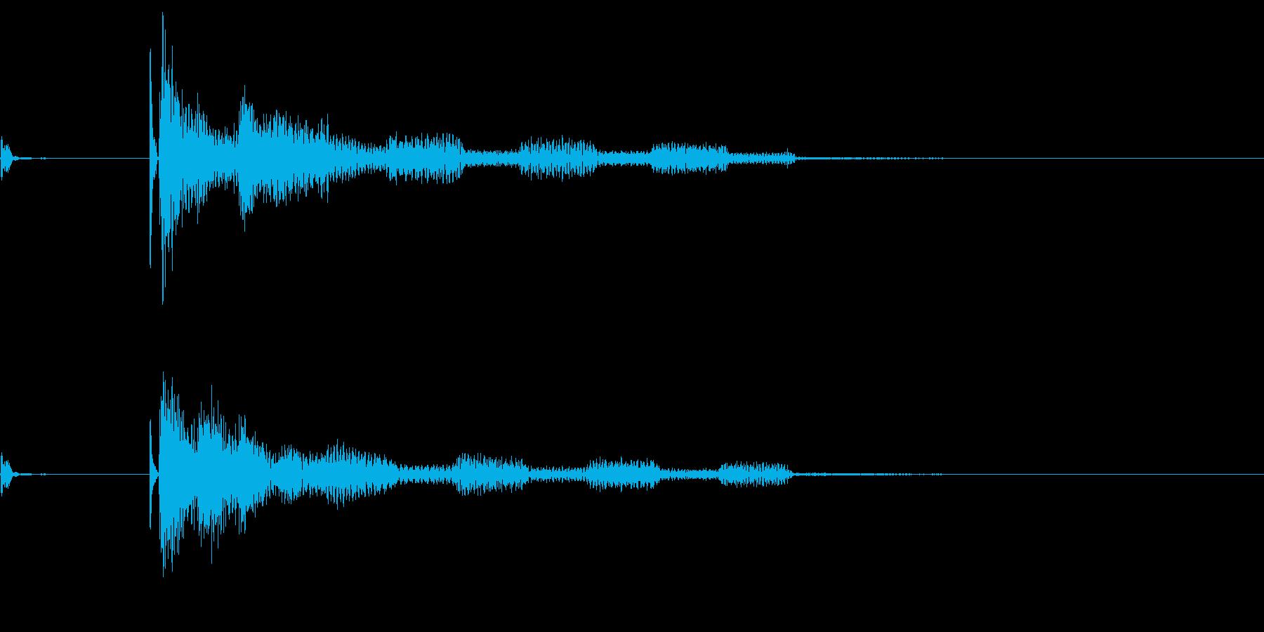 将棋の駒5 オセロ 効果音付き の再生済みの波形
