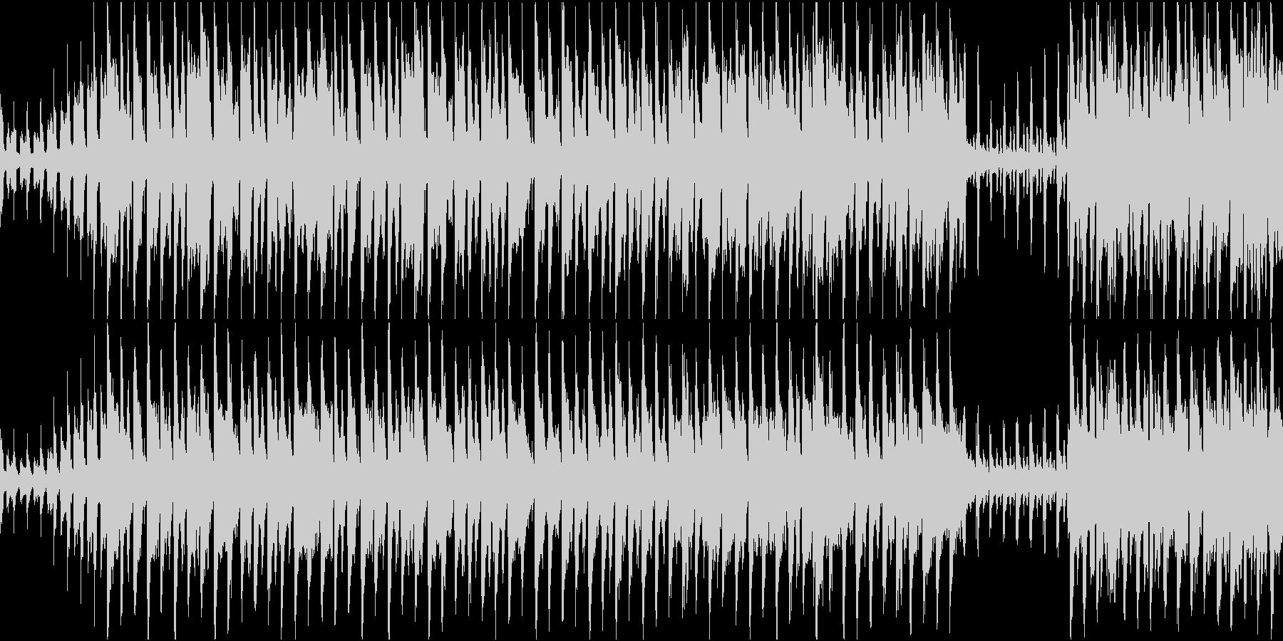 賑やかな中国風のループBGM 二胡・笛子の未再生の波形