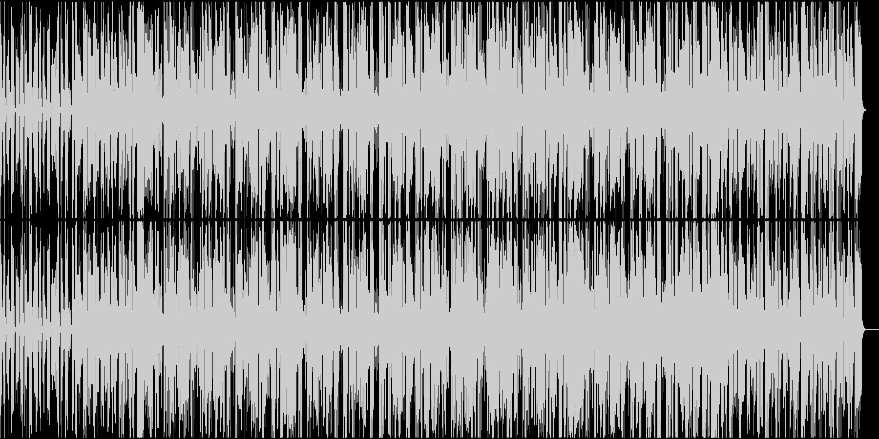 シンセを用いた淡白なテクノ楽曲の未再生の波形