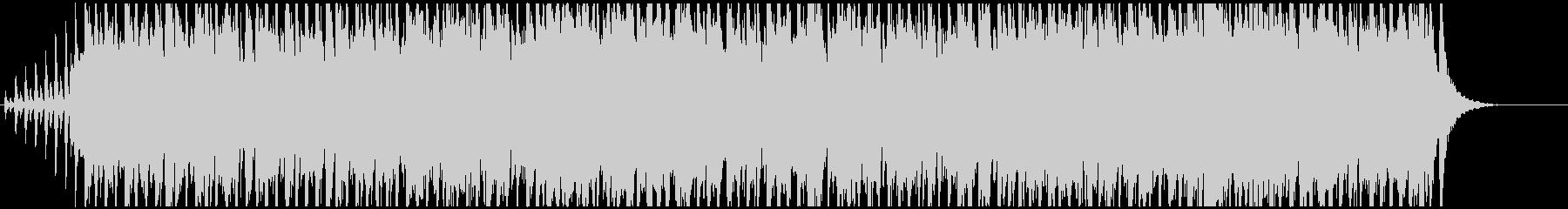 リズミカルで明るいBGMの未再生の波形