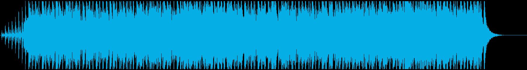 リズミカルで明るいBGMの再生済みの波形