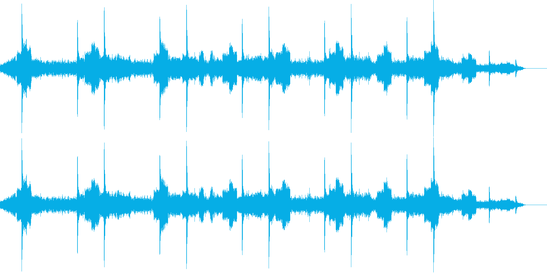 心拍数の音の再生済みの波形