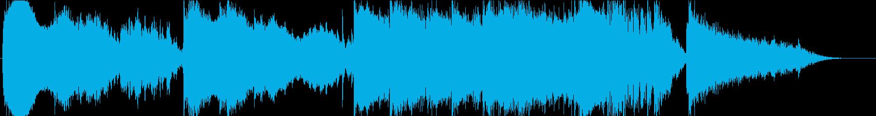 静かながらも力強いイメージの再生済みの波形